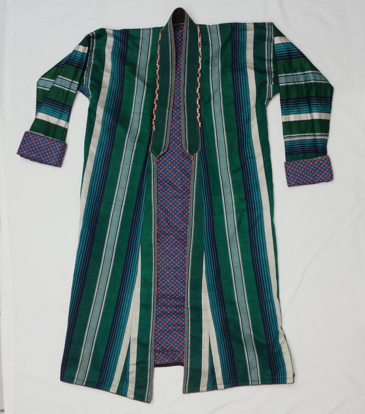 Man's coat (chapan) from northern Afghanistan, second half 20th century (TRC collection 2016.1853). For more information, click the illustration.