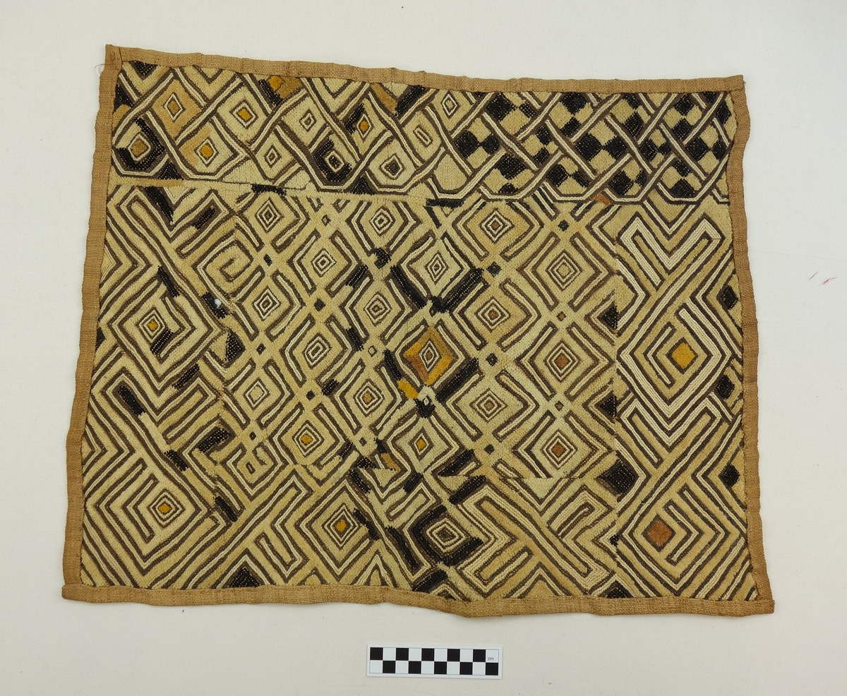 An example of Kuba embroidery made from raffia (mid-20th century, Congo; TRC 2017.3292).