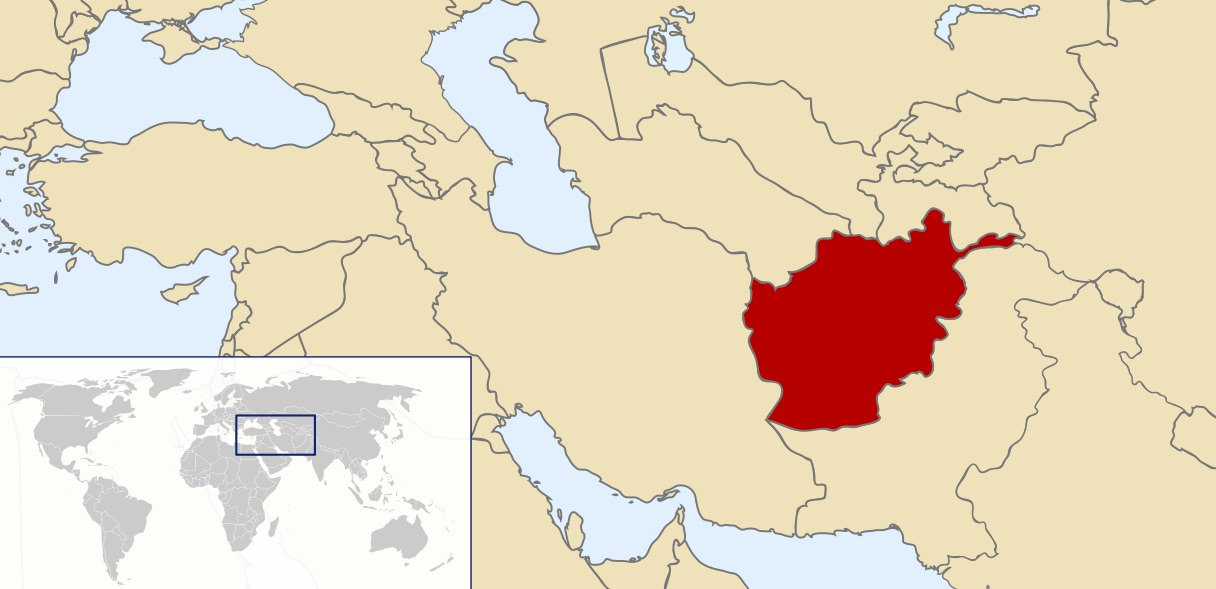 The location of Afghanistan.