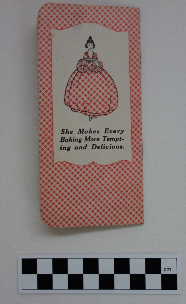 Small notebook made especially by the Gingham Girl Flour company, USA, c. 1925 (TRC 2018.0002).