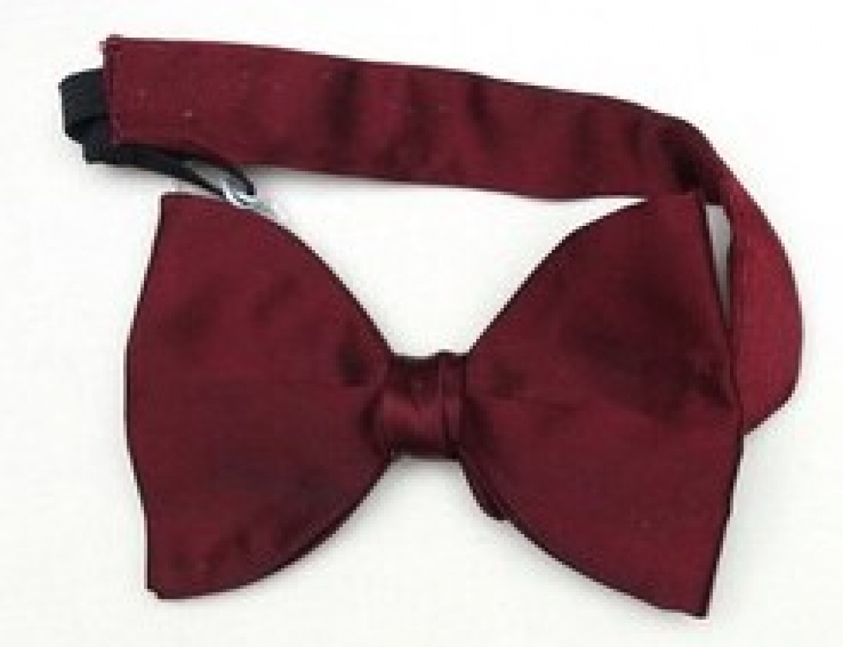 Bow tie that was worn at the wedding of Shelley Anderson to Francoise Pottier in Alkmaar, NL in April 2016. The bow tie was made in England, but purchased in a shop in the USA.
