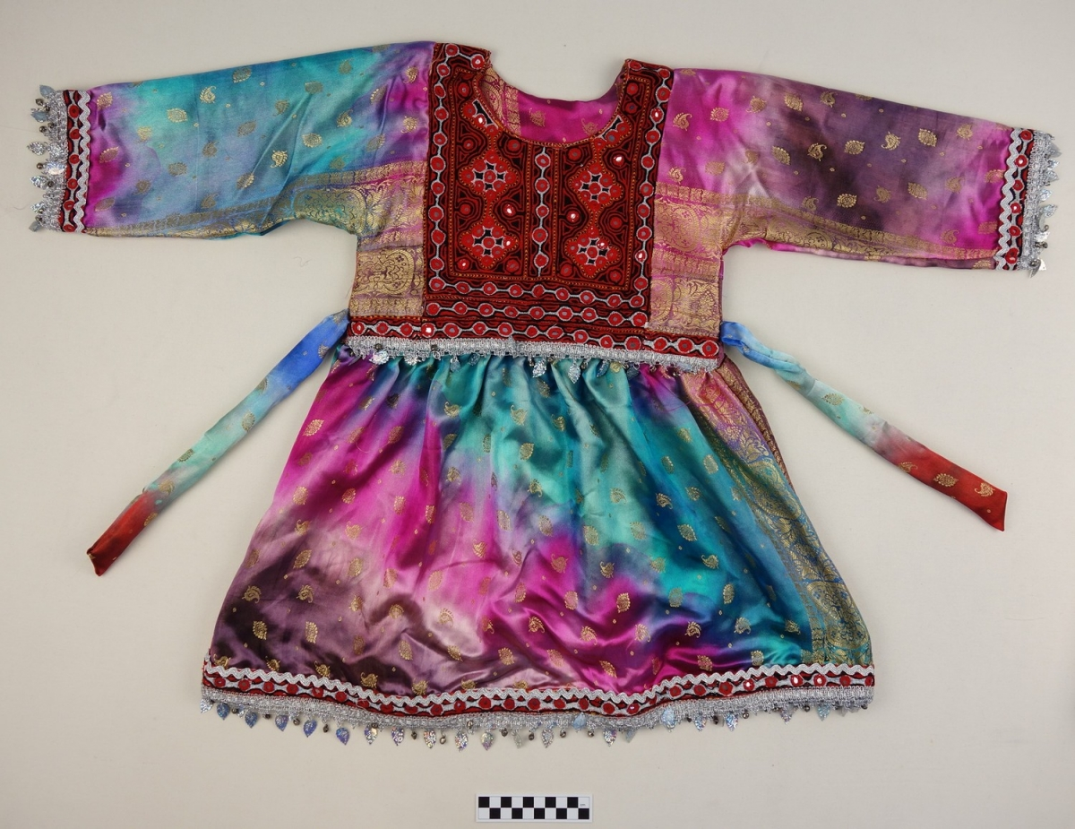 Festive dress for a Pashtun girl, Afghanistan, early 21st century.