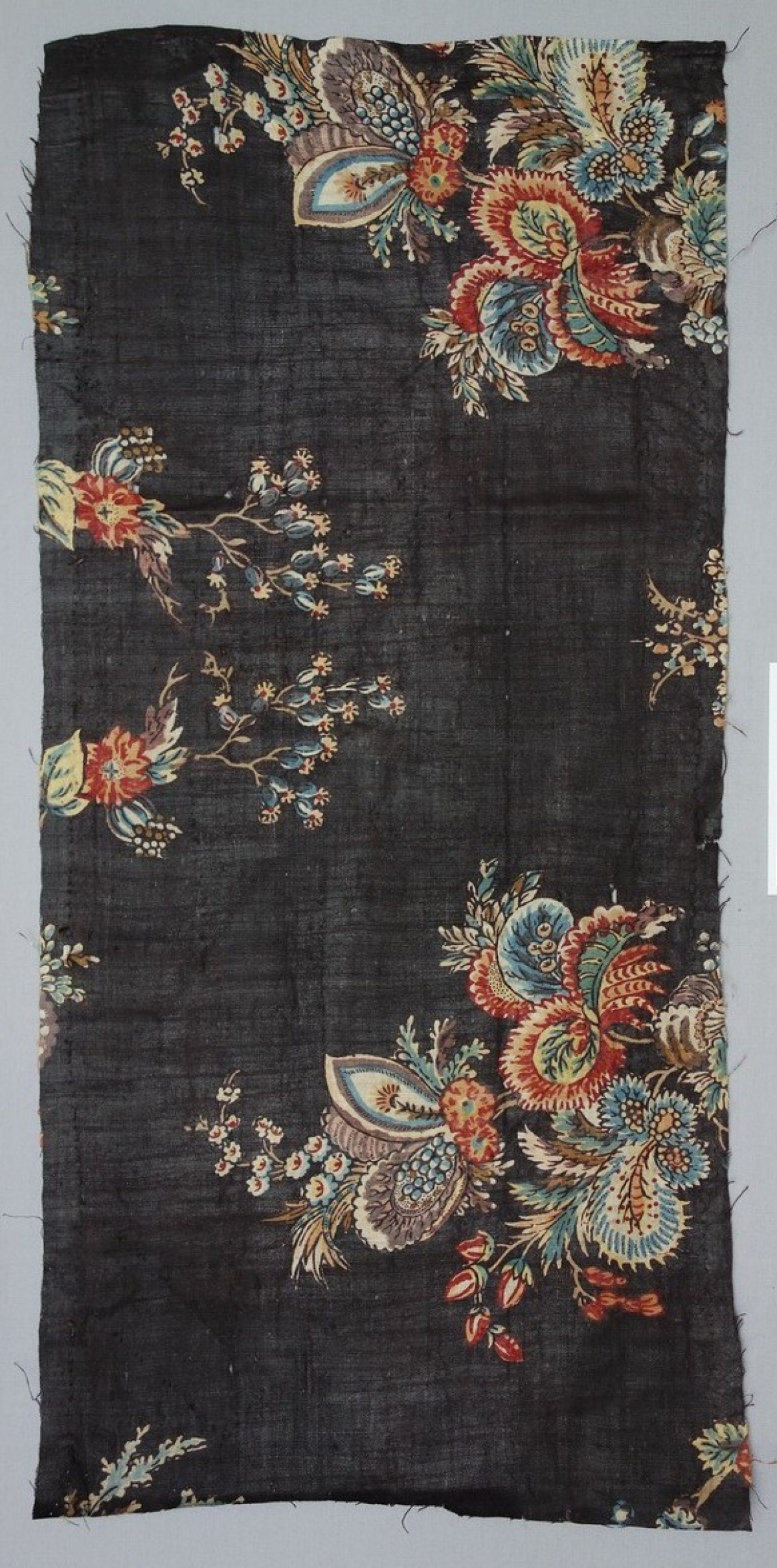 Sample of a French copy of an Indian chintz, c. 1900.