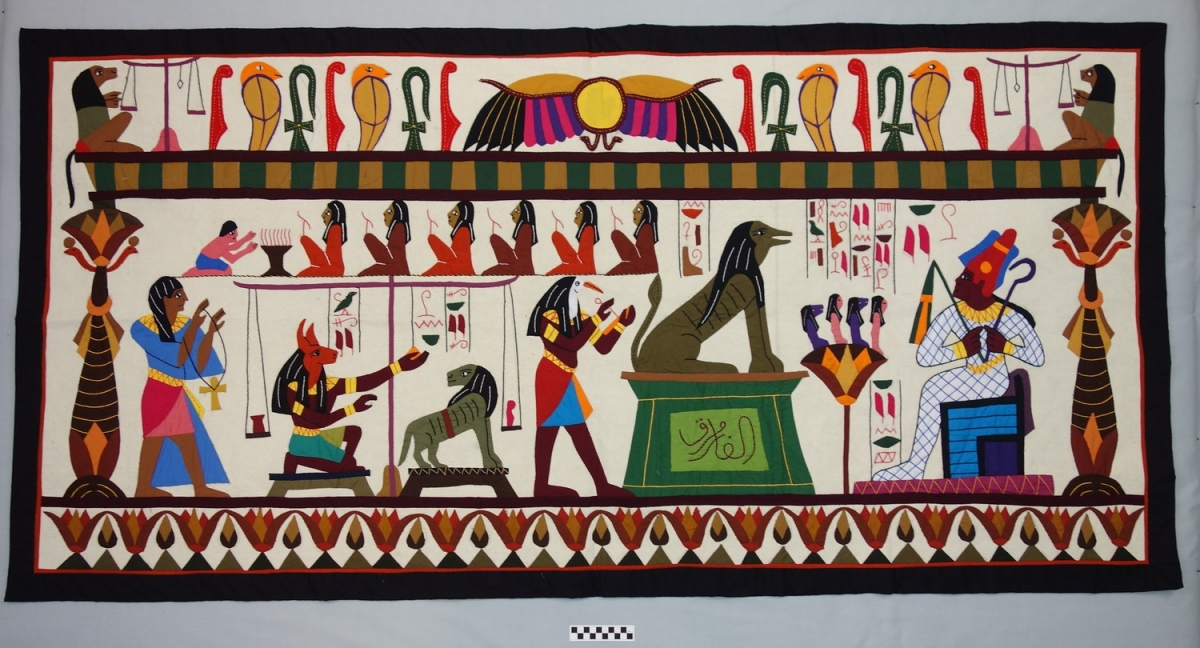 Appliqué panel from the Street of the Tentmakers, Cairo, Egypt, 2014.