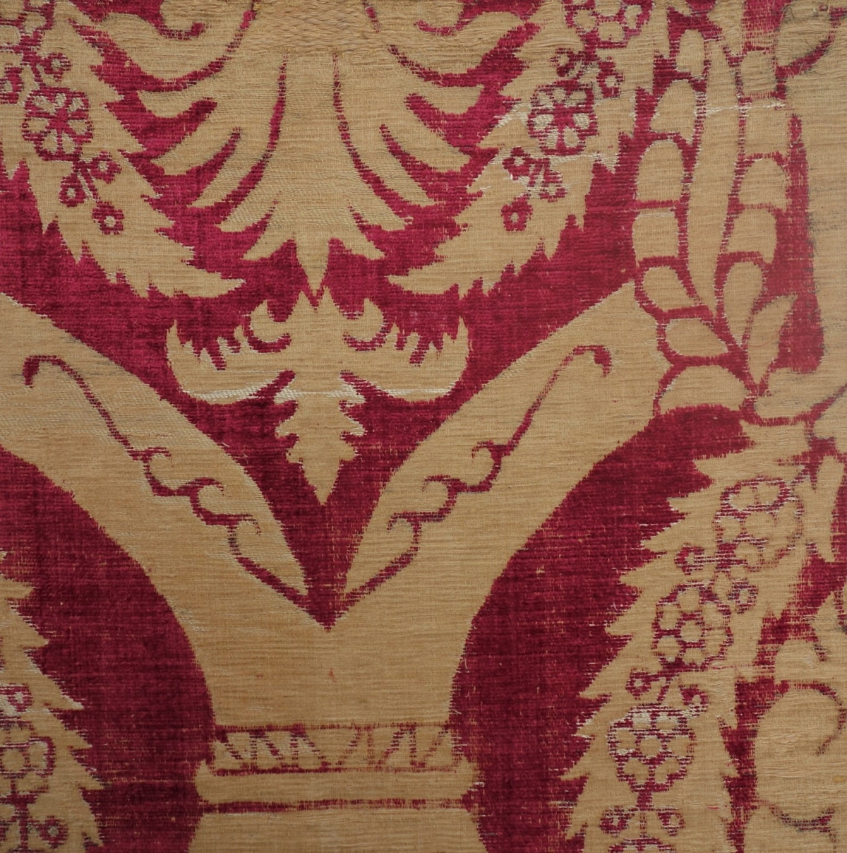 Late 15th century silk and linen velvet, probably Italian.
