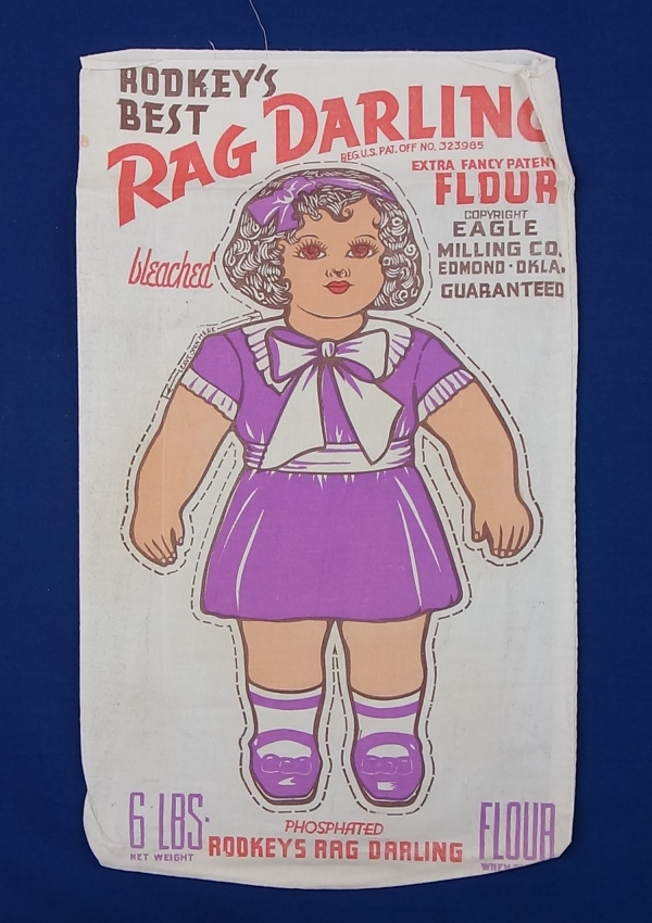 The 'Rag Darling' cloth doll was registered by the Department of State, Oklahoma, USA, in June 1937 (TRC 2017.3232).