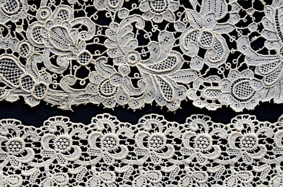 5. Two pieces of Venetian lace imitation