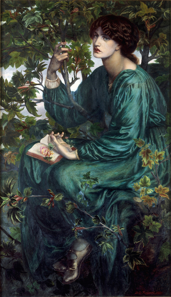 Dante Gabriel Rossetti, 'The Day Dream', with Jane Morris as model.