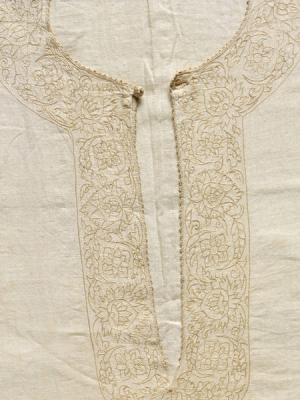 Collar of seventeenth century smock from Portugal with Indo-Portuguese embroidery.