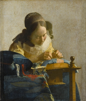 The Lacemaker, by Johannes Vermeer, c. 1670.