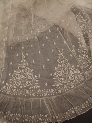 Embroidered muslin from what is now Bangladesh, early 19th century.
