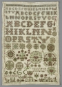 Sampler from Hindeloopen, Friesland, The Netherlands, dated 1701.