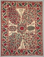 Early 19th century suzani with floral sprays, Uzbekistan.