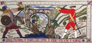 Detail of the Prestonpans tapestry.
