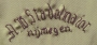 Embroidered signature of the Stadelmaier firm, c. 1965.