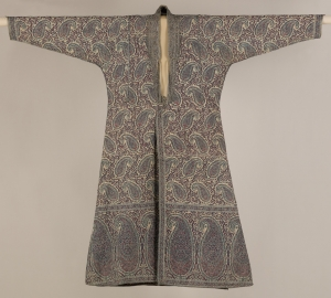 Man's coat or choga, probably from India, first half 19th century.