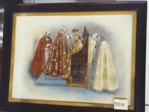 Archbishop of Canterbury crowning George V, 1911, by Alfred Pearse (1855-1933).
