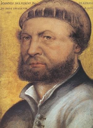 Self-portrait of Hans Holbein the Younger (painted 1542-1543).