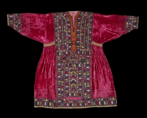 Baluch woman's dress, acquired at Karachi, late 20th century.