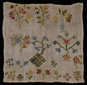 Sampler from second half 18th century, The Netherlands.