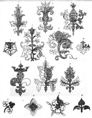 Illustration taken from Anastasia Dolby's 'Church Needlework Ancient and Modern', 1867.