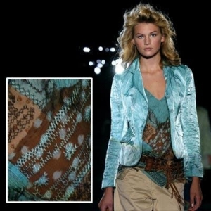 Siwan embroidery used for Italian haute couture.