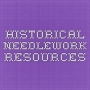 Logo of Historical Needlework Resources.