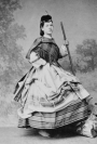 Alice Charlotte von Rothschild, photographed around 1870 in Highland dress.