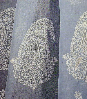 Chikan embroidery from Lucknow