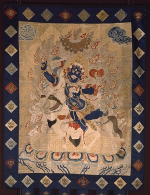 Embroidered thangka from Inner Mongolia (?), c. 1780-1850.