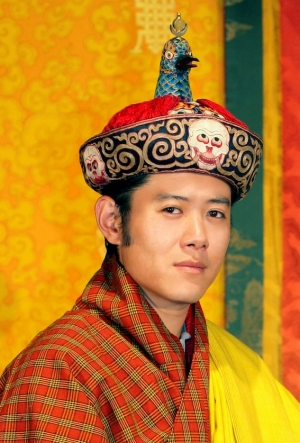 King of Bhutan wearing the Raven Crown
