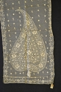 Cotton scarf made of net with silk thread embroidery. Madras, c. 1855.