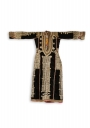 A festive Bayt al-Fakih dress made from black cotton with band embroidery (latter half of the 20th century; TRC 2005.0141).