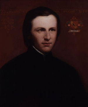 Painting of Augustus Welby Northmore Pugin (1812-1852), whose work inspired many of the embroideries produced by the Ladies Ecclesiastical Embroidery Society.