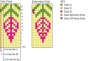 Embroidery chart with colour instructions.