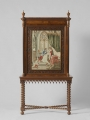 Bookcase with embroidered panel. The Netherlands, c. 1840.