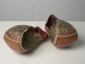 Slippers allegedly owned by Tipu Sultan.