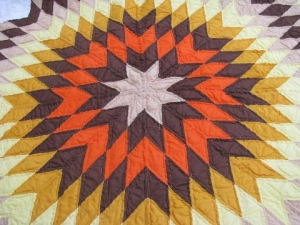 Modern patchwork with star pattern.