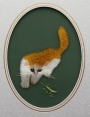 Double sided embroidery of a cat, China, late 20th century.