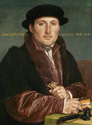 Portrait of a Young Merchant, by Hans Holbein the Younger (1498-1543).