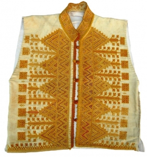 Waistcoat with Aleppo embroidery, Aleppo region, Syria, early 20th century
