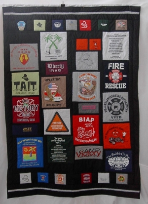 Modern example of a military quilt. USA.