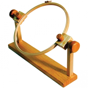 Tambour hoop on a stand.