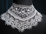 Collar made in the style of Bedfordshire lace, England, mid-19th century.