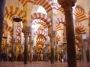 Inside the Great Mosque of Cordoba.