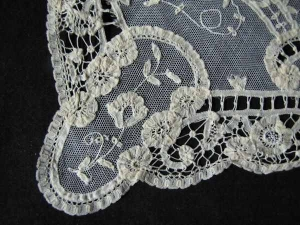 Part of a Princess lace placemat.