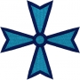 Maltese cross embroidery design.