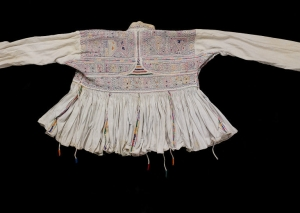 Embroidered Rabari man's shirt, India