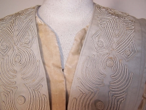 Early 20th century woollen suit jacket with soutache embroidery.