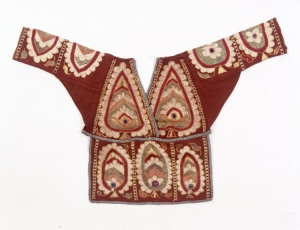 Blouse attributed to the Banjaras from Himachal Pradesh, India.